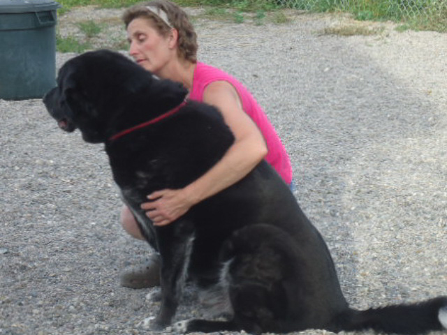 Sharon with Big Dog